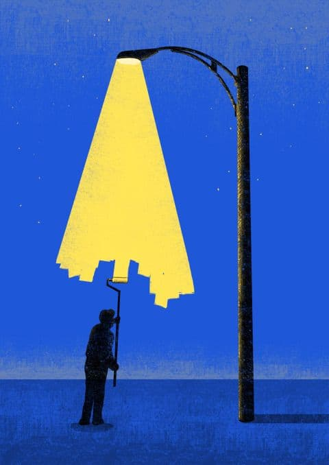 This style of painting by Tang Yau Hoong is perfectly suited to rub-to-reveal interactivity.