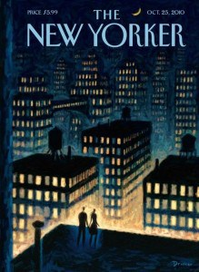 new yorker cover brightly lit city