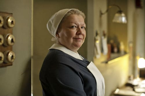 The evil nanny from season four of Downton Abbey 2013