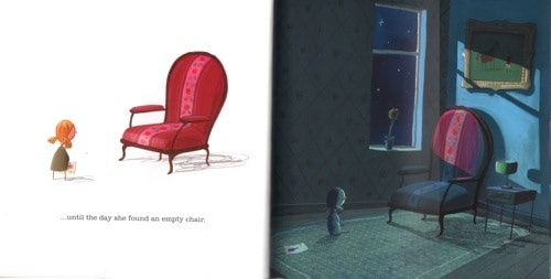 Empty Chair In The Heart and the Bottle by Oliver Jeffers